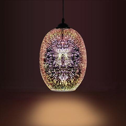 Andersonlight Modern Art 3D Effect Pendant Light Glass Hanging Ball ...