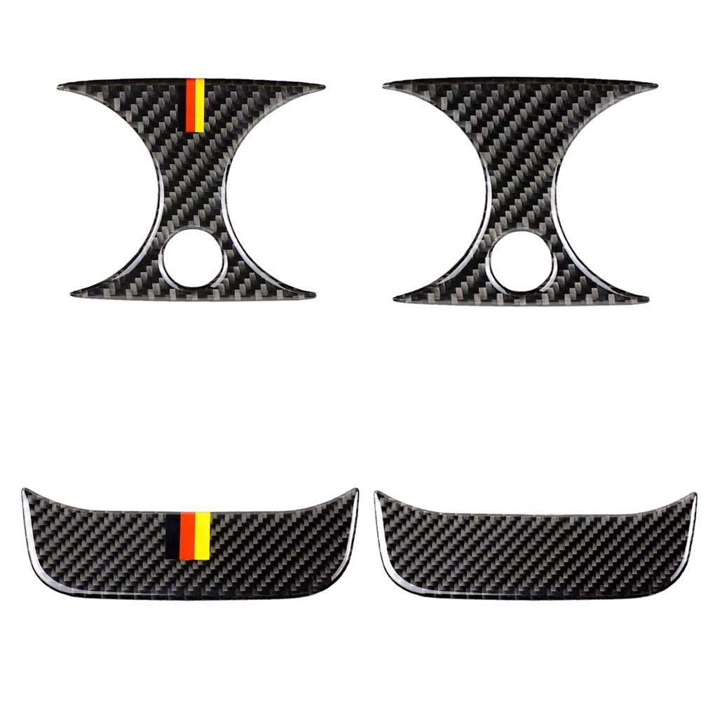 Idyandyans Carbon Fiber Rear Air Conditioner Outlet Panel Bezel Cover Trim Replacement for Mercedes C Class W205 C180 C200 GLC #4 Car Electronics & Accessories