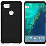 Google Pixel XL 2 Case, Google Pixel XL2 Case, Starhemei Slim Concise TPU Soft Shell Ultra thin Flexibility Bumper Rubber Unique Brushed Texture Case Cover For Google Pixel 2 XL (Black)