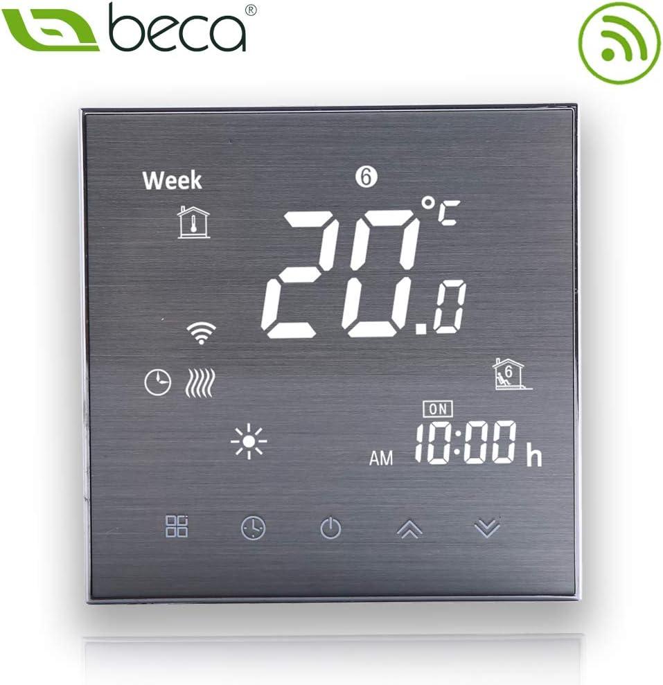 BECA 3000 Series 3//16A LCD /Écran Tactile Eau///Électrique//Chaudi/ère Intelligent Programmation Thermostat de Contr/ôle avec Connexion WIFI Chauffage /à leau,Noir