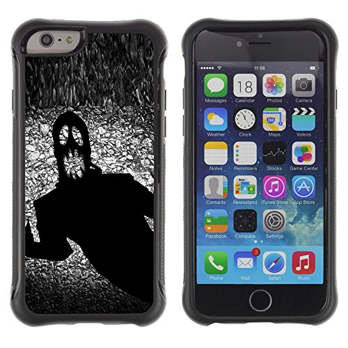 Pulsar iFace Series Soft TPU Skin Bumper Case Cover for Apple iPhone 6+ Plus(5.5 inches) , Monster Ghost Halloween Black Scary Terror - Terrors Monster Black