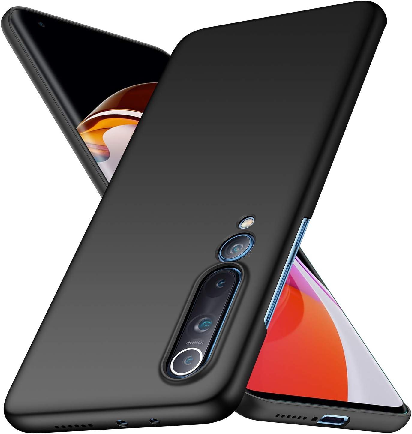 Avalri Funda Xiaomi Mi 10 5G Negro Dise/ño Minimalista Estuche R/ígido Ultra Delgado de PC a Prueba de Golpes Resistente a Rasgu/ños Cover para Xiaomi Mi 10 5G