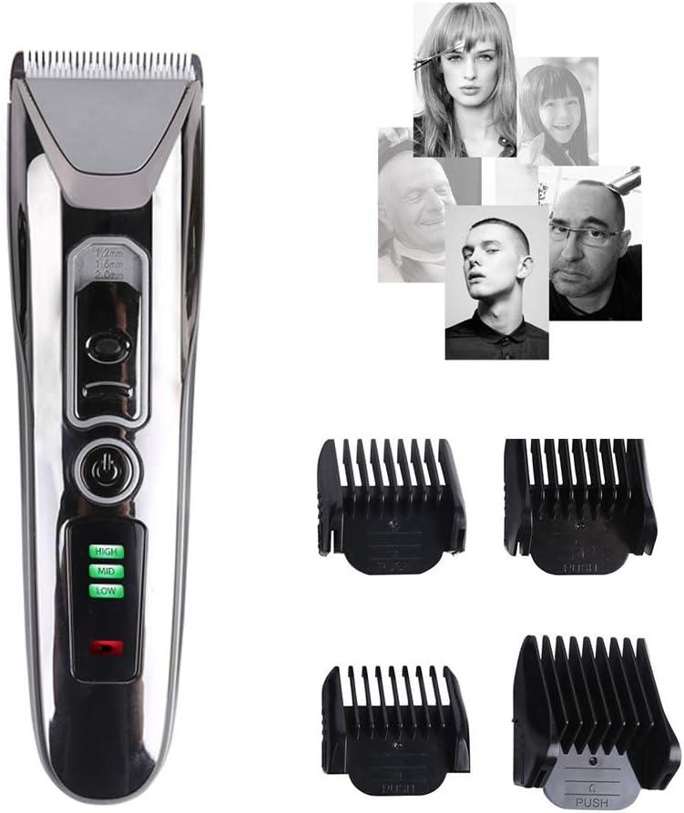 Cortapelos Profesional,Cortadora para Barba sin Cables con 4 Cabezales Intercambiables con Peines Guía para para Hombres, Ancianos y bebés, Mascotas