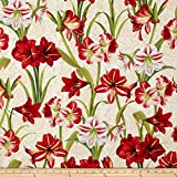 Making Spirits Bright 57 In. Wide Amaryllis Allover Ivory Fabric By The Yard