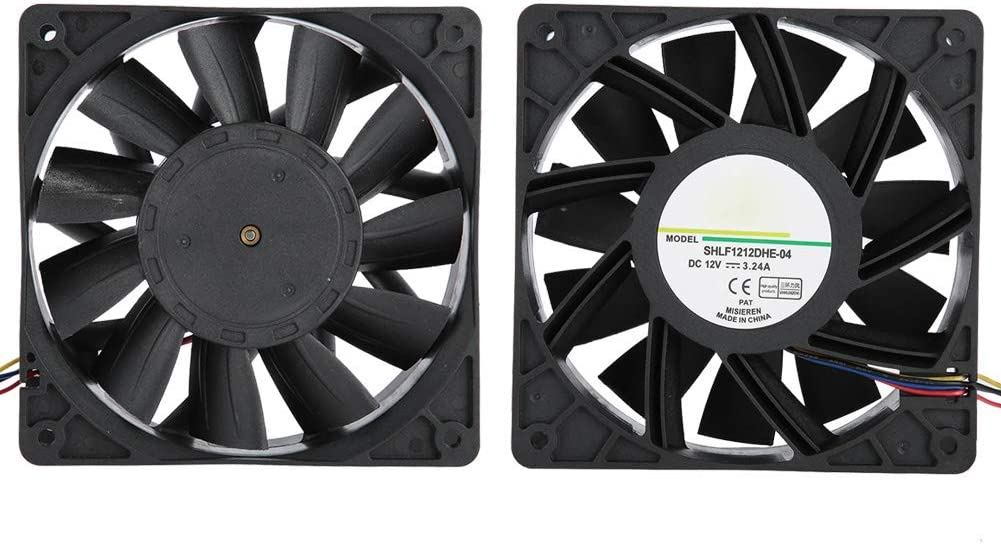. 12038 12V 4.7x4.7x1.5 Inch 4Pin High Air Volume Ultra Quiet Long Life Bearing Housing Computer Chassis Fan, Cooling Fan for AntMiner