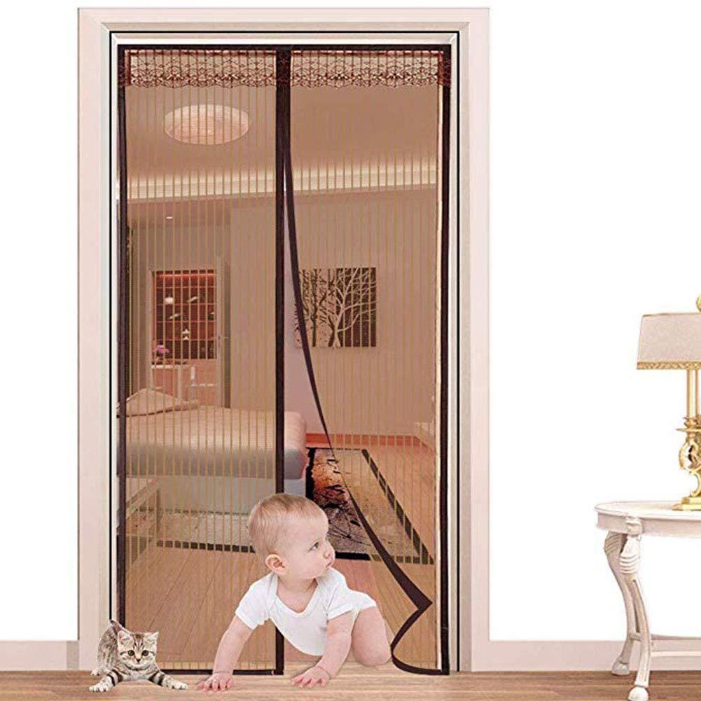 100x220 CM YOLE Zanzariera Magnetica per Porte Premium Tessuto in Vetroresina la pi/ù Resistente e fitta del Mercato di Design Minimal con Incolla Easyfix Bianca by ARCOL