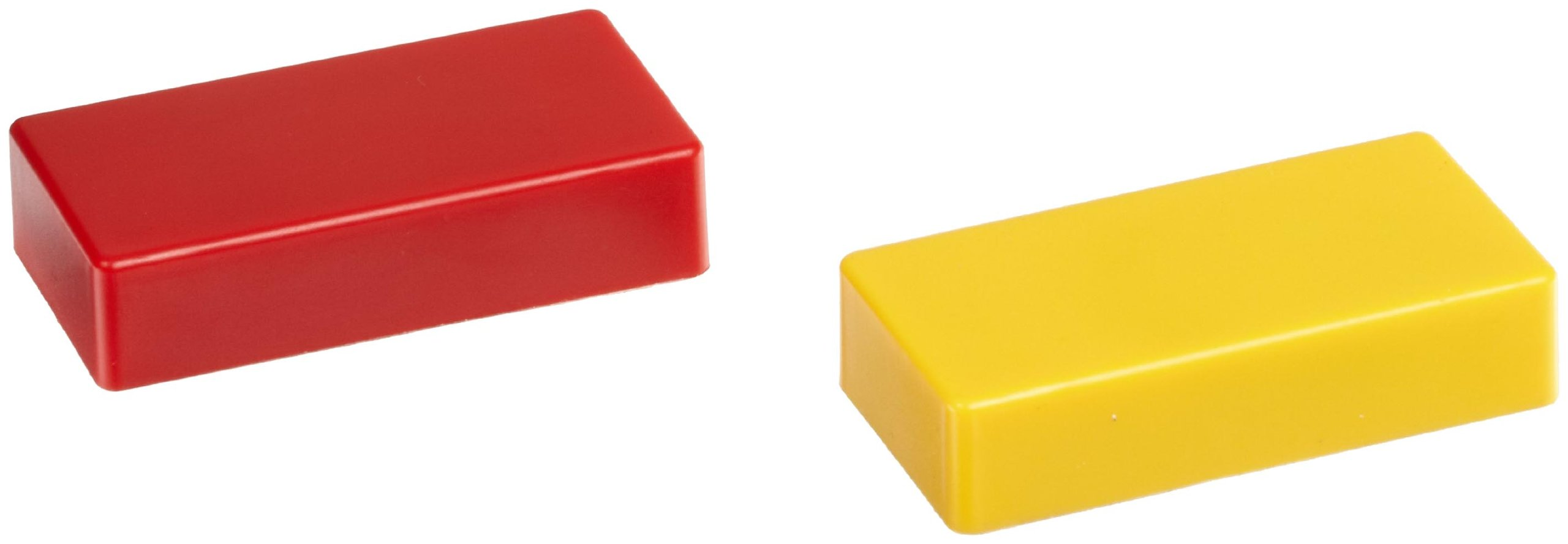 Hold Everything Magnet, Ceramic Block Magnet in Red &Yellow Plastic (1 of each Color)