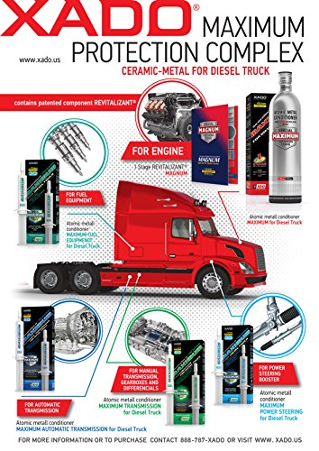 XADO 1 Stage Maximum for Diesel Trucks | Engine Oil additive - Protection for Engines & rebuilding of Worn Metal Surfaces - Metal Conditioner with Revitalizant (Bottle, 950 ml)