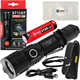 Klarus XT11GT Tactical Rechargeable Flashlight CREE XHP35 HD E4 LED 2000 Lumens with Lightjunction Battery Case