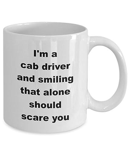 ec5ee95015 Amazon.com  Cath Frances Designs Taxi Cab Driver Mug Funny Gift ...