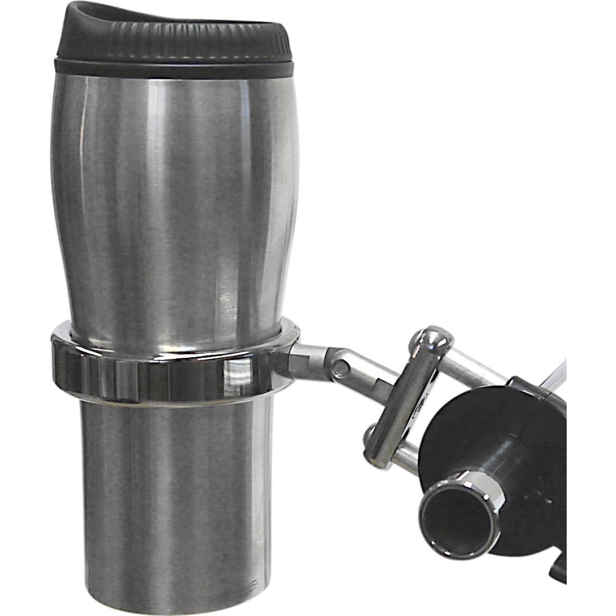 Desert Dawgs RURECH RoadRunner PLUS Drink Holder w/Travel Mug - Brake/Clutch Mount - Chrome