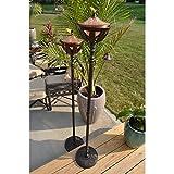 Starlite Garden and Patio Torche AKEX-FS-2300BRNZ Bali Torch (Set of 2), 61'', Bronze/Copper