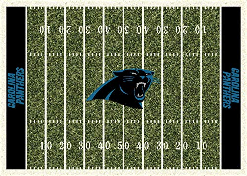Carolina Panthers NFL Team Home Field Area Rug by Milliken, 5'4