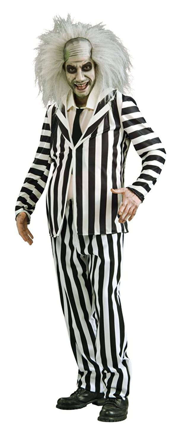 Tim Burton Beetlejuice movie costume outfit 1980s fancy dress mens