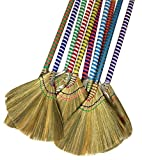 "choi bong co Vietnam Hand made straw soft Broom with colored handle 12"" head width, 38"" overall length"