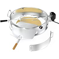 """only fire Multi-Purpose Stainless Steel Rotisserie Ring Kit for Weber 22 1/2"""" Kettle and Other Similar Grills"""