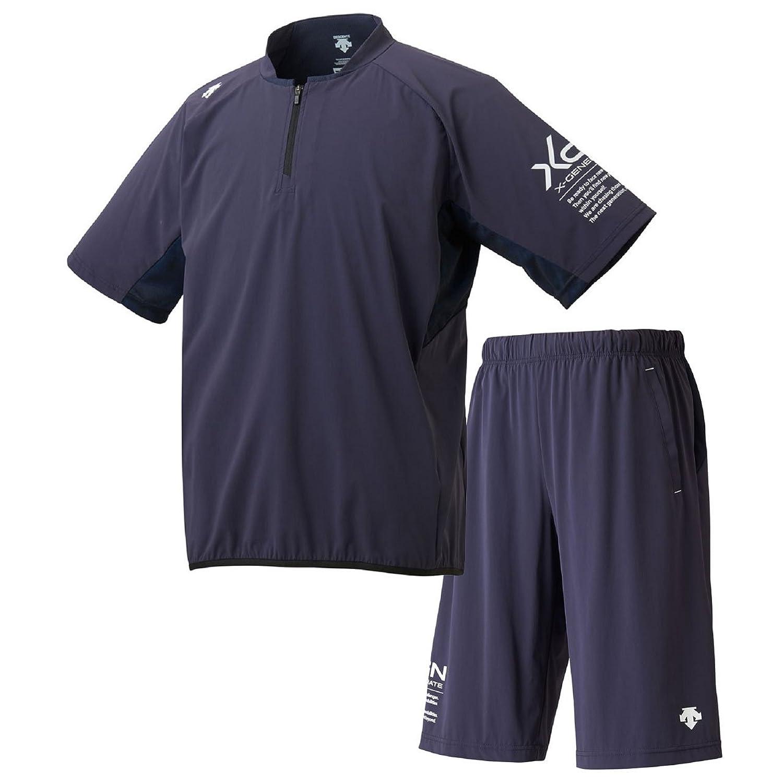デサント(DESCENTE) XGN ハイブリッドシャツ&ハーフパンツ上下セット(Sネイビー/Sネイビー) DBMLJF30-SNVY-DBMLJG30-SNVY B07CBVD7X2Sネイビー×Sネイビー 日本 M-(日本サイズM相当)