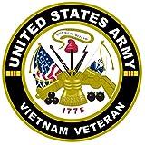 1-Pc Good Popular United States Army Vietnam Veteran Stickers Sign Windows Home Door Size 8
