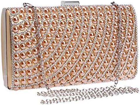 ダイヤモンドイブニングバッグレディースモールスクエアバッグワンピースクラッチバッグハンドバッグショルダーバッグ(カラー:ゴールド) 美しいファッション (Color : Gold)