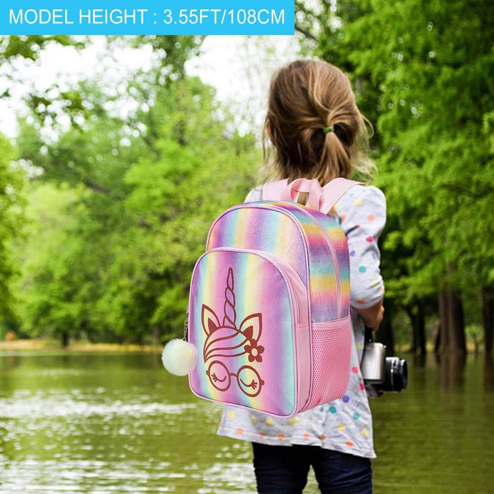 "14.5/"" Mermaid Backpack for Girls Glitter Preschool Backpack"