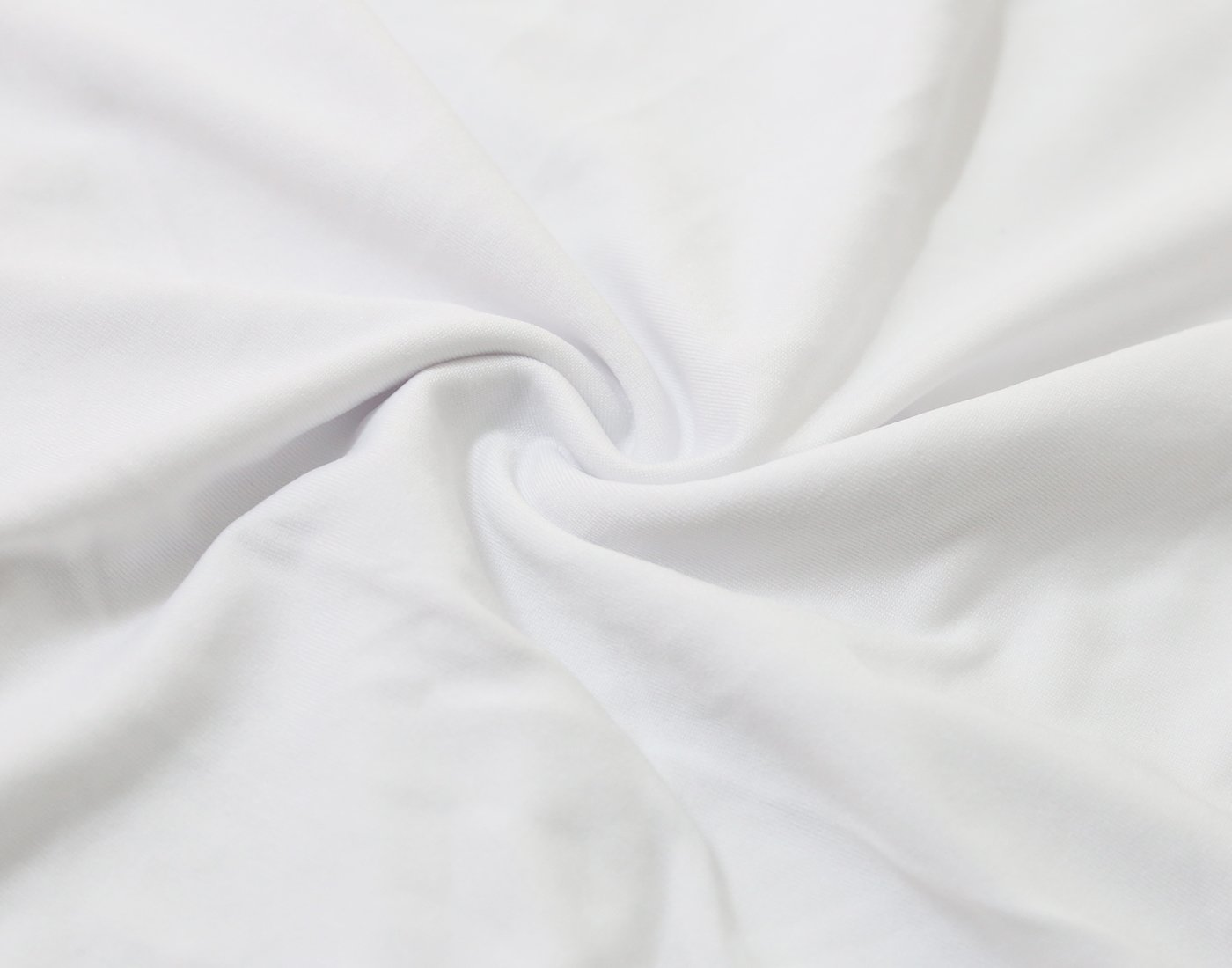 GFCC 6FT White Round Stretch Tablecloth 72-Inch