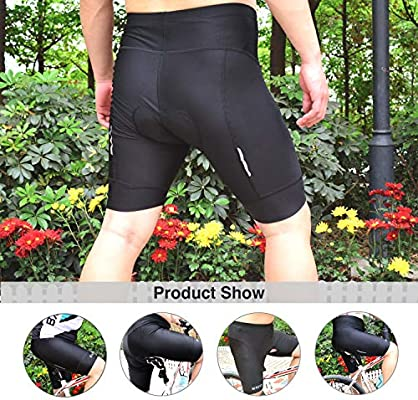 BXIO Pantalones Cortos de Ciclismo Hombre, Ropa Interior de ...