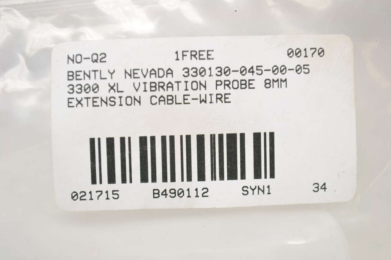 BENTLY NEVADA 330130-045-00-05 3300 XL PROBE 8MM EXTENSION CABLE-WIRE B490112: Amazon.com: Industrial & Scientific