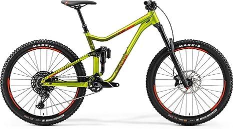 Merida One-Sixty 600 Fully - Bicicleta de montaña, 27,5 pulgadas, color verde y rojo, altura de bastidor de 47 cm: Amazon.es: Deportes y aire libre
