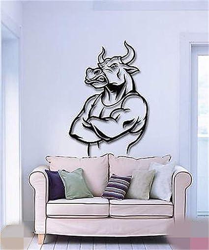 Amazon.com: Larmai Motivational Quotes Art Decals Bull Funny ...