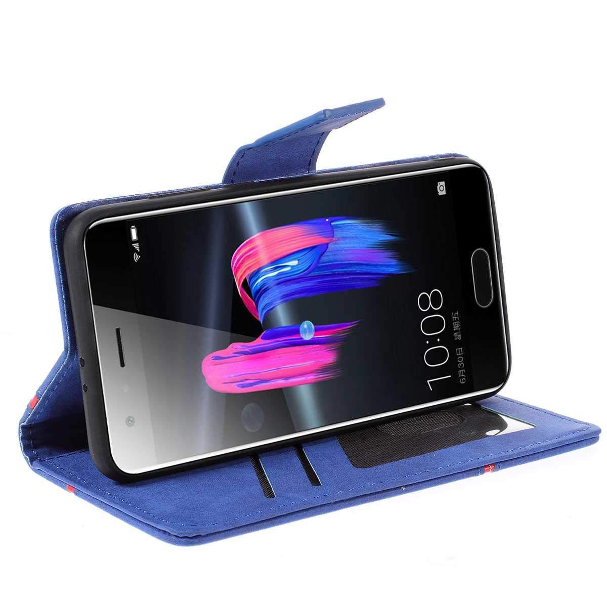 Noir Bear Village/® Huawei Honor 9 /Étui en Cuir Coque pour Huawei Honor 9 Portefeuille Housse /à Rabat avec Fonction de Support et Fente pour Cartes