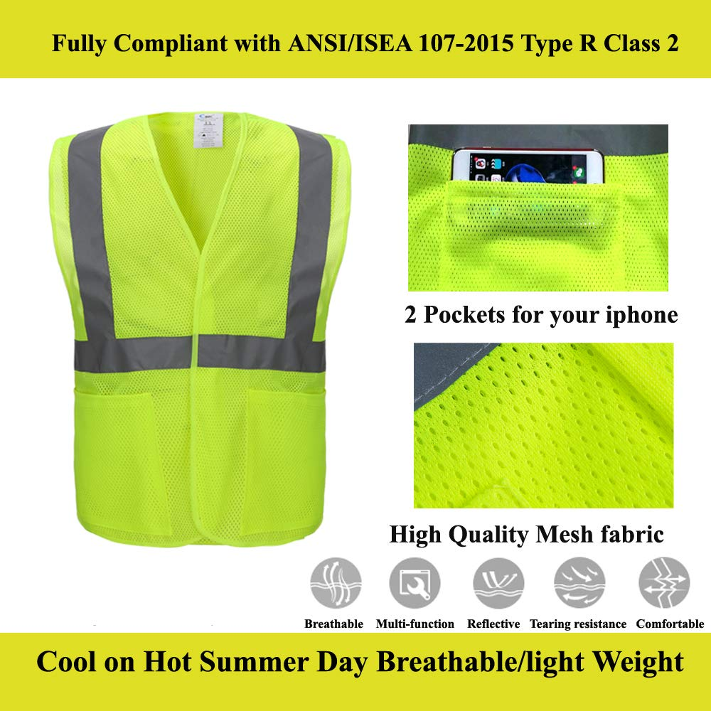 Safety Clothing Reflective Vest Sanitation Building Construction Mesh Vest For Fast Shipping