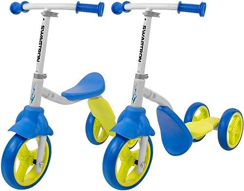 Swagtron K2 Toddler 3 Wheel Scooter & Ride-On Balance Trike