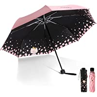 Meiyijia Paraguas Plegable, Mini Paragua,Paraguas Ultraligero,Protección UV, Doble-Uso Paraguas del Sol/Lluvia…