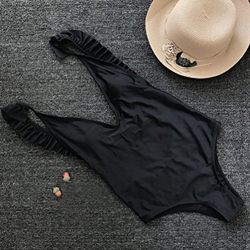 Costume da push stampa Beachwear Bikini bagno da SOMESUN Costume up maniche Reggiseno senza bagno moda Imbottito Costumi nero con intero donna Nero 65wwRIxaq