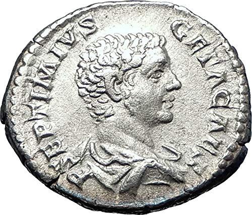 208 IT GETA sacrificing over altar 208AD Authentic AR A coin ()