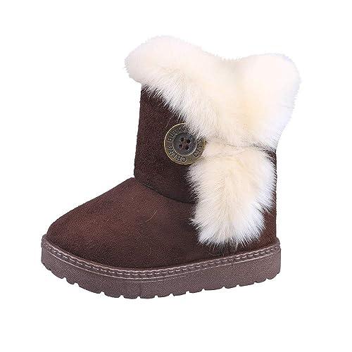 Botas Militares de Nieve Altos para Niñas Pelo Invierno PAOLIAN Zapatos Bebés Niñas Primeros Pasos Recién Nacido Espesar Además Lana Calientes Calzado ...