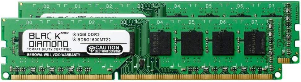 16GB 2X8GB RAM Memory for ASRock Motherboards 880GM Pro3 R2.0 DDR3 DIMM 240pin PC3-12800 1600MHz Black Diamond Memory Module Upgrade