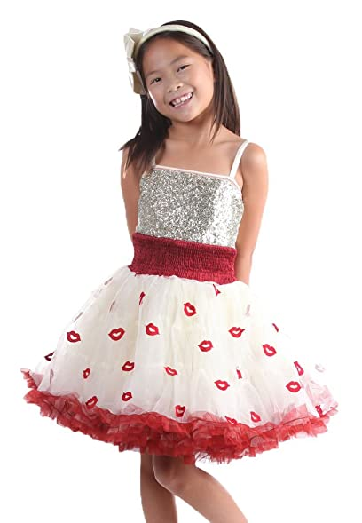 NWT Boutique OOH LA LA COUTURE Toddler Snakeskin LIPS Black Knit DRESS Swarovski