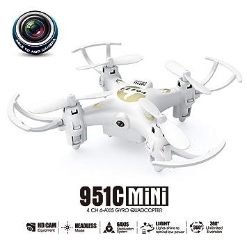 KD UAV, Drone de giroscopio de 6 Ejes con 0.3 MP CAM Negro y Blanco de