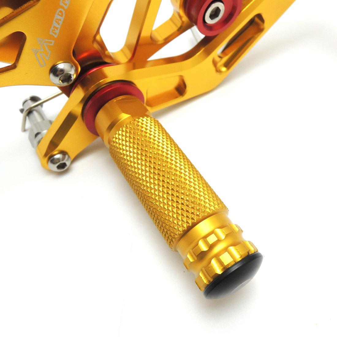 Estriberas Ajustables CNC Reposapi/és de Motocicleta para CBR1000RR CBR600RR 2003 2004 2005 2006 2007