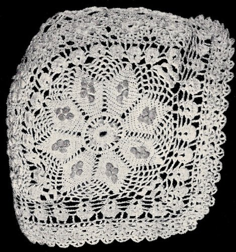 Vintage Crochet PATTERN to make - Antique Baby Cap Hat Bonnet Eight Pointed Star Design Early 1900s. NOT a finished item. This is a pattern and/or instructions to make the item only.