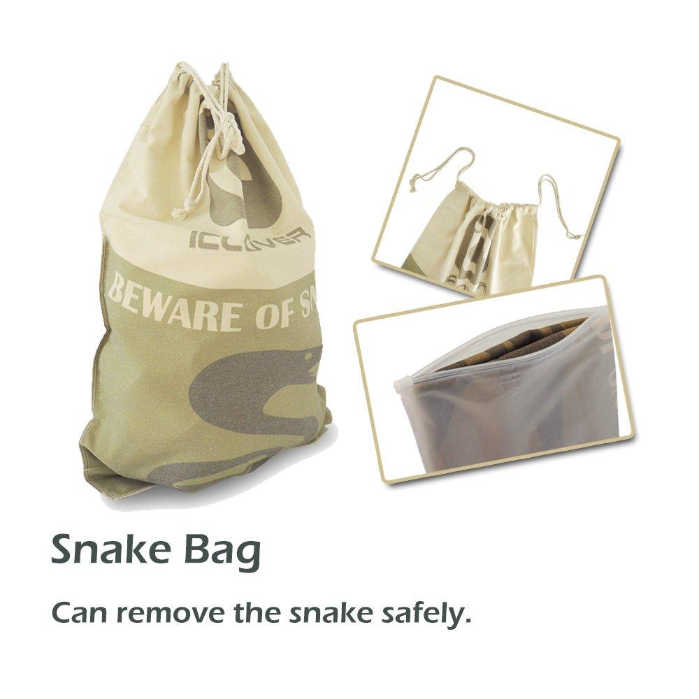 47 Heavy Duty Professional Grabber /& 39.3 Collapsible Snake Hook 39.3 Snake Hook IC ICLOVER 47 Snake Tong Best Tool Set for Moving Rattle Snake Corn Snake Kingsnakes Lizard Reptiles