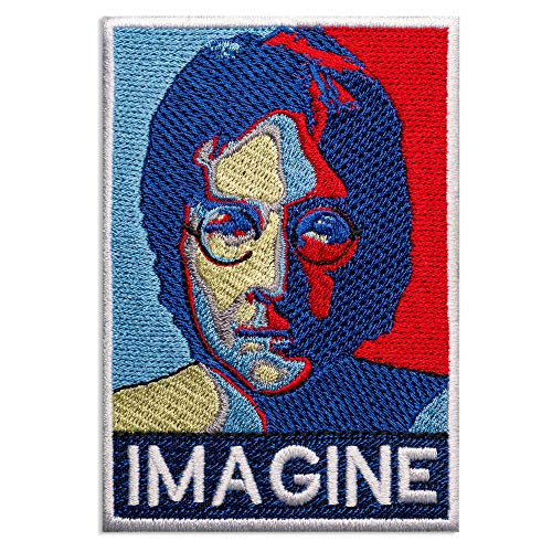 - The Beatles John Lennon Small Portrait Music Rock Band Embroidered Patch Iron On (3