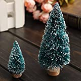 Mini Christmas Tree Home Wedding Decoration Supplies Artificial Tree Multi-sizes Description: Color: Green+White+Wood Size: As shown Material:Plastic+Wood Simulated snow Beautiful design These trees are available in 5 sizes, 100mm,150mm, 200m...