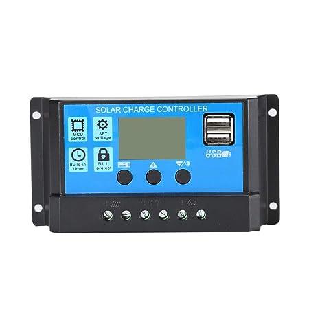 gfjfghfjfh 12V / 24V Panel Solar Cargador Controlador ...