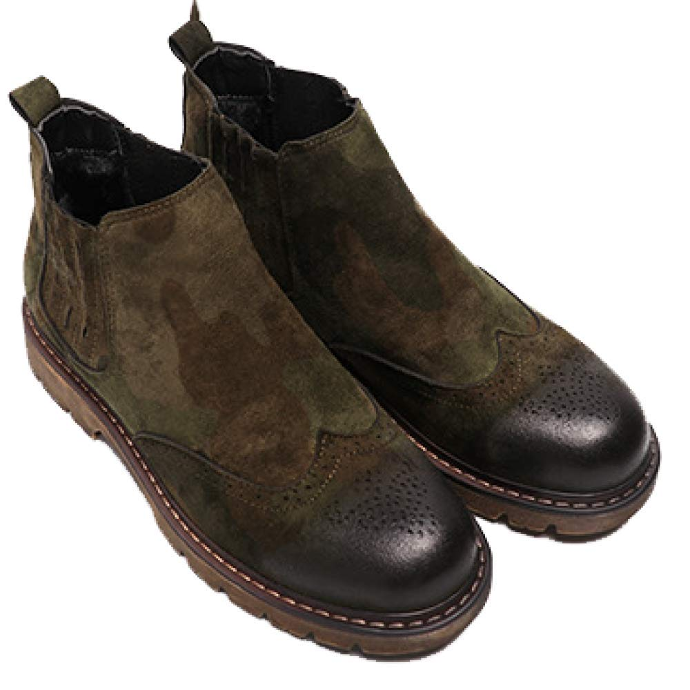 WDYY Scarpe da Uomo Martin stivali più Scarpe di di di Cotone Velluto Mimetico Scarpe Pigri 8c6498