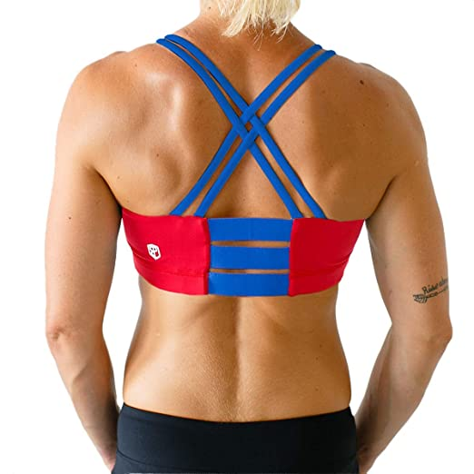 a91a361f18 Image Unavailable. Image not available for. Color  Fearless1 Sports Bra (Red )