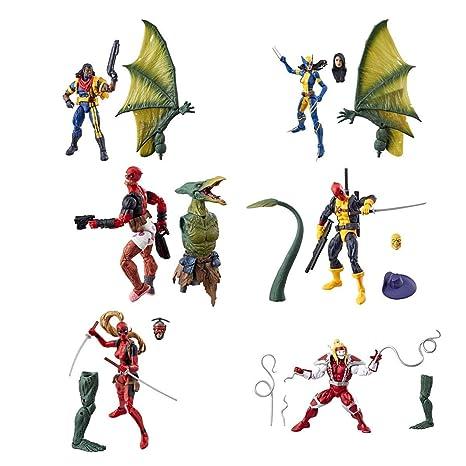 /% 100 complet Dans la main *** 2018 Nouveau Marvel legends X-Men Deadpool Sauron BAF Set