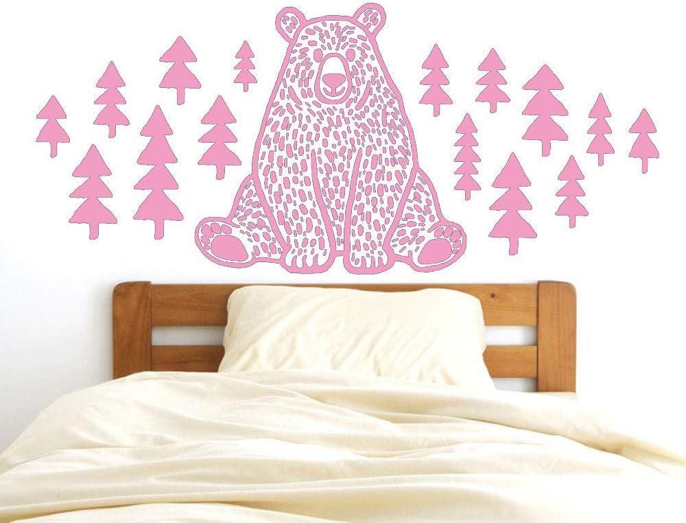 zqyjhkou Nordic Mori Animal Pine Bear Dibujos Animados Vinilos ...