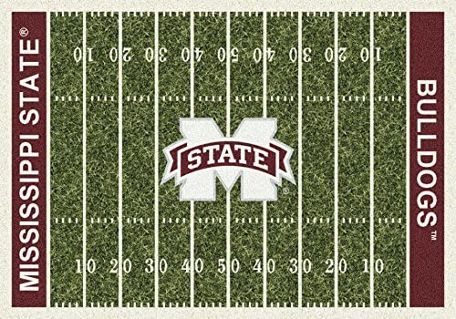 Milliken Mississippi State College Home Field Area Rug, 10 9 x 13 2 , 01188 Home Field
